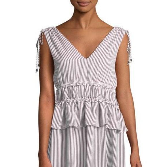 Line & Dot Dresses & Skirts - New Line & Dot Striped Tie-Shoulder Mini Dress